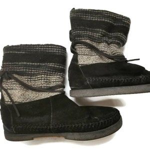 Toms Womens Nepal Boots Pull On Faux Fur Lined 5.5
